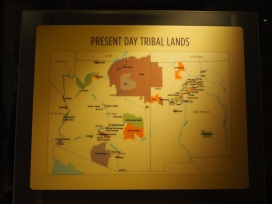 Map of present day tribal lands, showing how the tribes were moved