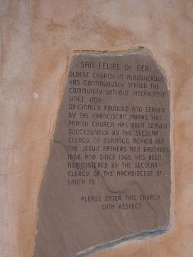 San Felipe de Neri placque